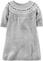 Carter's Toddler Girl Light Gray Sweater Dress