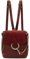 Chloé Red Small Faye Backpack