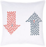 LIFE by Muriel Brandolini Arrow-Print Cotton Poplin Pillow