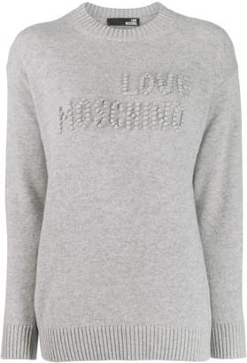 Love Moschino bobble detail jumper