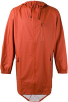 Rains hooded zip up jacket - men - Polyester/Polyurethane - XS