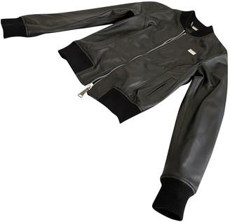 Philipp Plein Black Leather Leather Jacket for Women