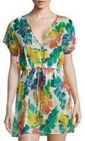 Milly Banana Leaf Silk Cover-Up