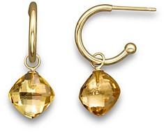 Bloomingdale's Citrine Small Hoop Earrings in 14K Yellow Gold - 100% Exclusive