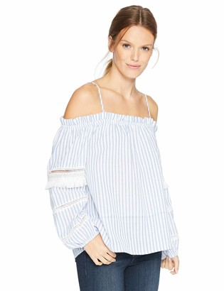 Sugar Lips Sugarlips Women's Cindy Off The Shoulder Stripe TOP
