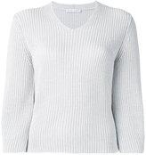Fabiana Filippi V neck jumper - women - Cotton - 40