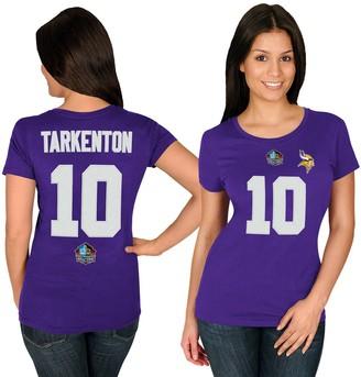 Majestic Women's Fran Tarkenton Purple Minnesota Vikings Hall of Fame Fair Catch Name & Number T-Shirt