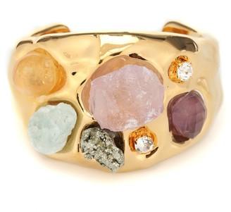 Marni Gemstone-embellished cuff bracelet