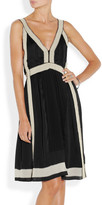 Vanessa Bruno Contrast-trimmed silk-satin dress
