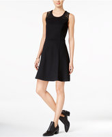 Maison Jules Lace-Inset Fit & Flare Dress, Only at Macy's