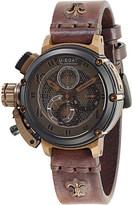 U-Boat 8098 Chimera net leather strap watch