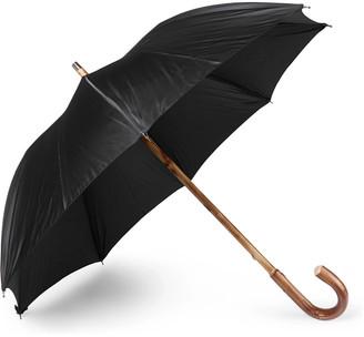 Francesco Maglia Lord Chestnut Wood-Handle Striped Umbrella