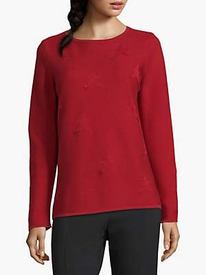 Betty Barclay Star Jumper, Red Scarlet