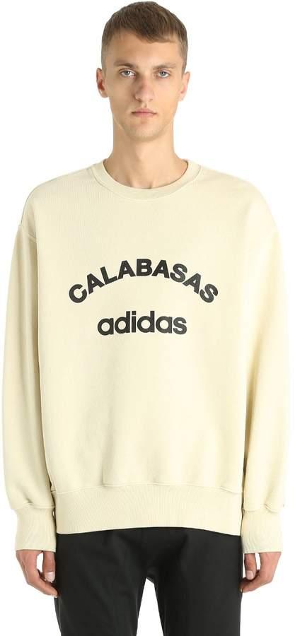Yeezy Calabasas Adidas Print Cotton Sweatshirt