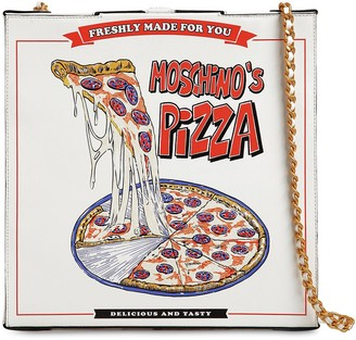 Moschino PIZZA BOX LEATHER SHOULDER BAG
