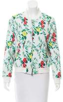 Armani Jeans Floral Print Quilted Jacket