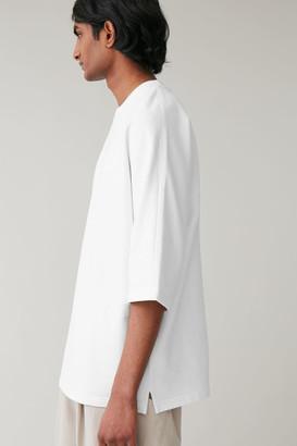 Cos Cotton-Linen Jersey T-Shirt