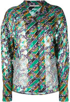 Marco De Vincenzo lace appliqué floral shirt - women - Silk/Polyester - 40