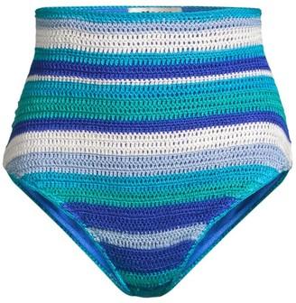 All Things Mochi Jamie Crochet Striped Bikini Bottom