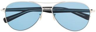 Eyevan 7285 Paragon aviator-frame sunglasses