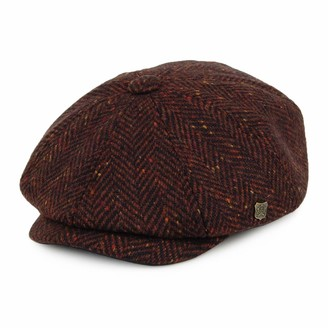 Failsworth Men`s Malmo Donegal Tweed Cap - Wine 834 (59)