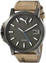 Puma Men's PU103461017 Ultrasize 50 - Gun Brown Analog Display Japanese Quartz Brown Watch