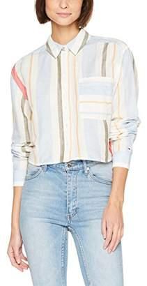 Tommy Jeans Women's Multi Stripe Crop Shirt Long Sleeve T-Shirt,X