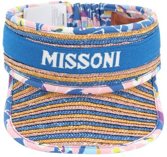 Missoni Pagoda Straw & Cotton Visor