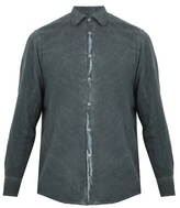 Massimo Alba Spread-collar Brushed-twill Shirt