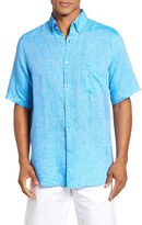 Paul & Shark Men's Regular Fit Linen Sport Shirt