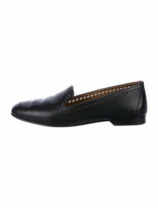 Hermes Perforated Leather Loafers Black