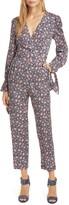 Rebecca Taylor Twilight Floral Long Sleeve Silk Blend Jumpsuit