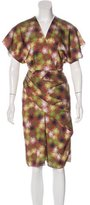 Costello Tagliapietra Abstract Print Draped Dress