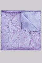 Moss Esq. Purple & Sky Paisley Silk Pocket Square