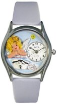 Whimsical Watches Women's S0610007 Nurse Angel Baby Light Blue Leather Watch