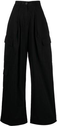 Raeburn Laundered organic cotton cargo trousers