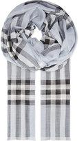 Burberry Giant check print wool-silk blend scarf