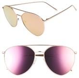 Quay Women's X Jasmine Sanders Indio 60Mm Mirrored Aviator Sunglasses - Black/ Gold