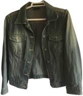 MANGO Blue Cotton Jacket for Women