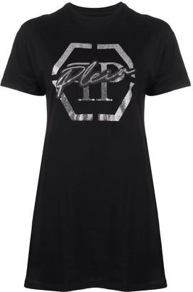 Philipp Plein logo embellished T-shirt dress