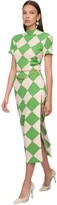 Rowen Rose Printed Crepe Midi Dress