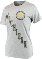 Unbranded Women's Pressbox Heathered Gray Michigan Wolverines Sundown Tri-Blend T-Shirt