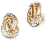 Anne Klein Pave Knot Clip-On Stud Earrings