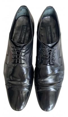 Dolce & Gabbana Black Leather Lace ups