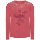 GUESS GuessGirls Pink Embellished Floral Top