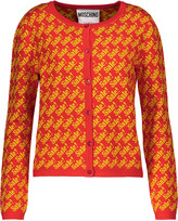 Moschino Printed wool cardigan