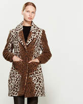 French Connection Leopard Print Boucle Coat