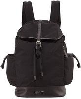 Burberry Watson Flap-Top Backpack, Black