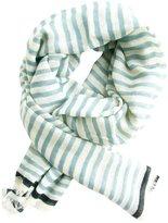 See Design Karma Stripe Wool Scarf - Grey/Black