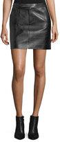 Ralph Lauren Bennett Leather Skirt